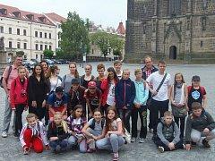 Součástí programu pro zahraniční žáky byl i výlet do Chrudimi.