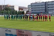 Česká fotbalová liga: Loko Vltavín - MFK Chrudim.