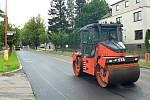 Právě dokončená rekonstrukce státní silnice I/34 v Hlinsku dělá radost všem řidičům projíždějících městem od křižovatky na Holetín až po světelnou křižovatku.