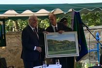 Prezident Miloš Zeman na návštěvě ve Rváčově