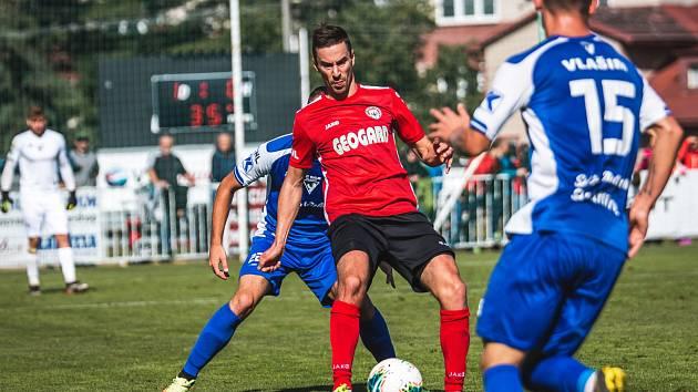 Dva góly Tomáše Dostálka znamenaly výhru nad třetiligovým soupeře z Přepeří.