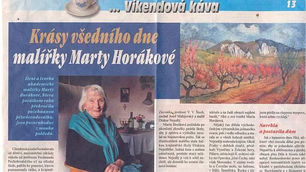 Marta Horáková - její život a dílo