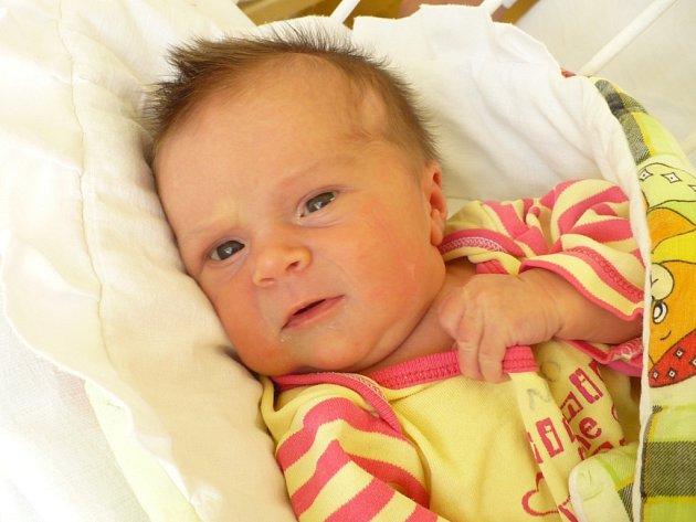 ADÉLKA JAKUBCOVÁ udělala 15. července v 18:29 svým narozením radost nejen rodičům Janě a Janu Jakubcovým ze Skutče, ale i svým sourozencům. Měřila 48 cm a vážila 2,9 kg.