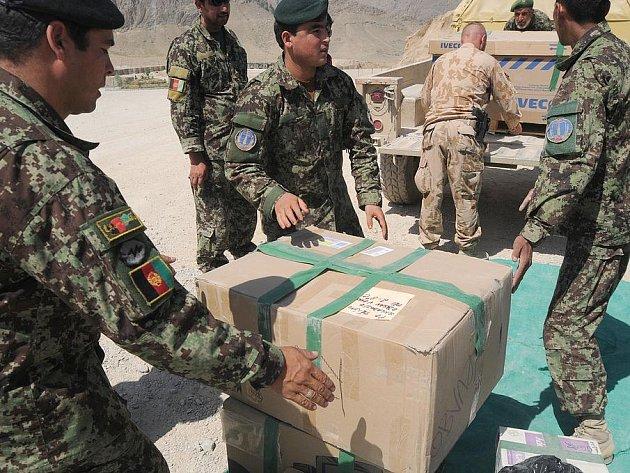 Český Provinční rekonstrukční tým v afghánské provincii Lógar opravil část základny Afghánské národní armády.