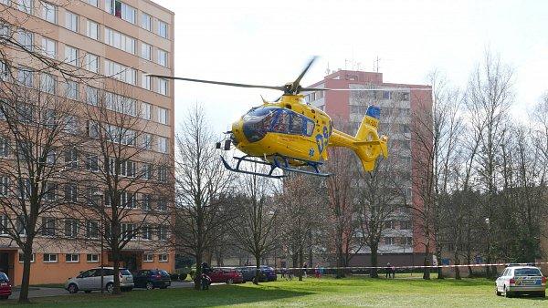 Na sídlišti UStadionu vpátek přistával vrtulník.