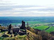 Zřícenina hradu Lichnice.