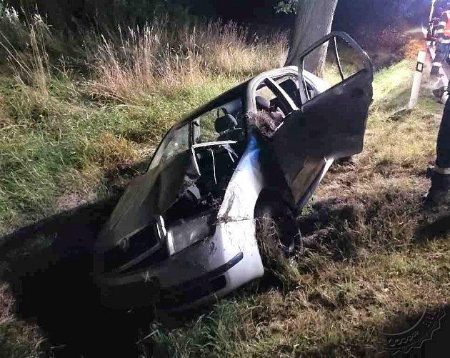 Dopravní nehoda uobce Perálec