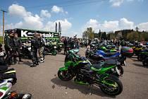 Na Seči se sjel rekordní počet motocyklů Kawasaki.