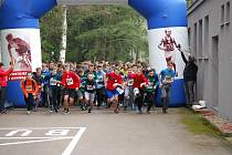 Závod v přespolním běhu 3. ročníku Memoriálu Josefa Šťulíka v Ležákách.