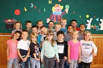 Žáci 1. A ze Základní školy Luže, kterou vede paní učitelka Pavla Tmejová.
