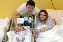 Prvním letošním miminkem narozeným v chrudimské porodnici je Alex Linhart.