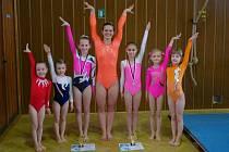 Chrudimské gymnastky dovezly  z Vrchlabí dvě zlaté medaile.