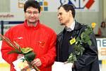 Ota Stejskal (vlevo) si přebral ocenění v kategorii Tahoun. Ve stejné kategorii skončil na třetím místě František Tichý, za kterého přebral cenu Tomáš Meller (vpravo), sám oceněný bronzem v kategorii dospělých jednolivců.