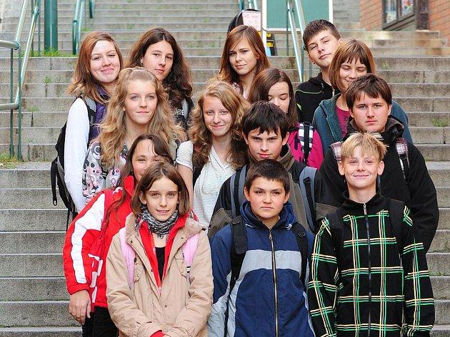 Heřmanoměstečtí studenti na exkurzi v redakci Chrudimského deníku.