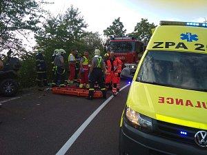 Nehoda čtyřkolky u obce Seč na Chrudimsku.