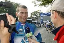 Momentky z 2. závodu cyklokrosového TOI TOI Cupu z Hlinska. Vítěz.
