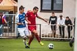 První trefa v sezoně. Dobrý tah trenéra Veselého se vyplatil. Střídající žolík Tomáš Dostálek (v červeném) vyrovnal.