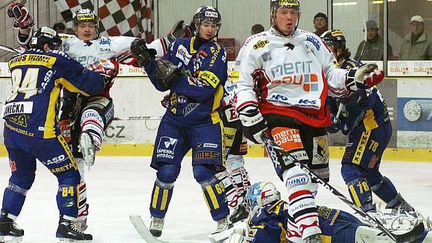 I. hokejová liga: HC Chrudim - Salith Šumperk 4:3 po prodloužení.