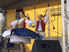 Folklorní festival Chrudimské obžinky 2014.