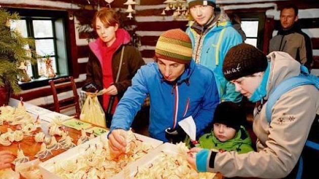 Vánoce ve skanzenu na Veselém Kopci u Hlinska.