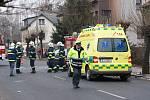 Při vážné dopravní nehodě dvou škodovek ve Slatiňanech byli zraněni dva mladíci.