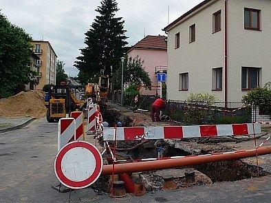 Purkyňova ulice v Chrudimi.