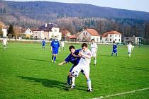 Z utkání krajského přeboru Třemošnice - Česká Třebová 4:0.
