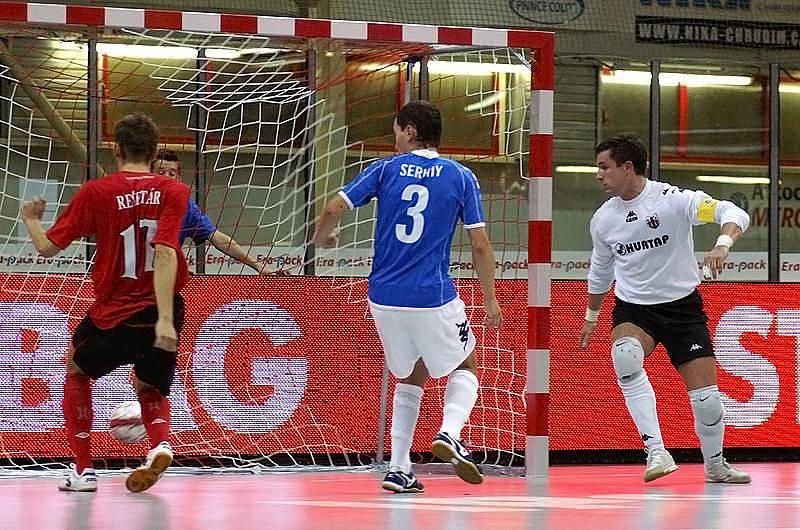 Z futsalového utkání Era-Pack Chrudim - Hurtap Leczyca 5:3.