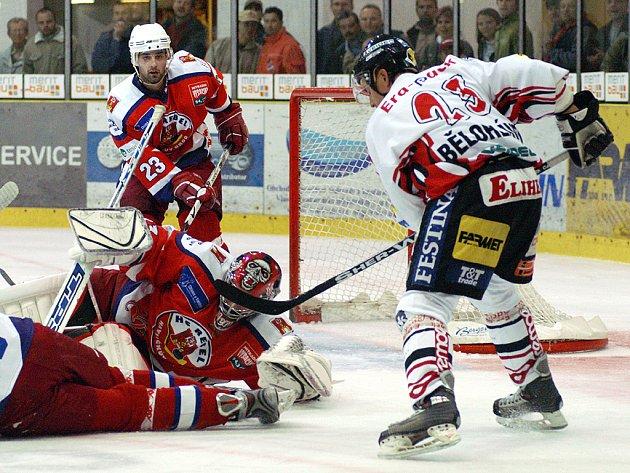 Momentka ze středečního utkání s Havlíčkovým Brodem.