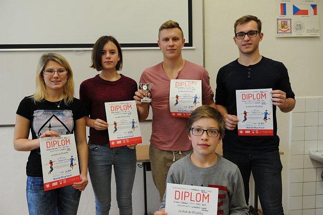 Vítězové zGymnázia Josefa Ressela - Müsli team.
