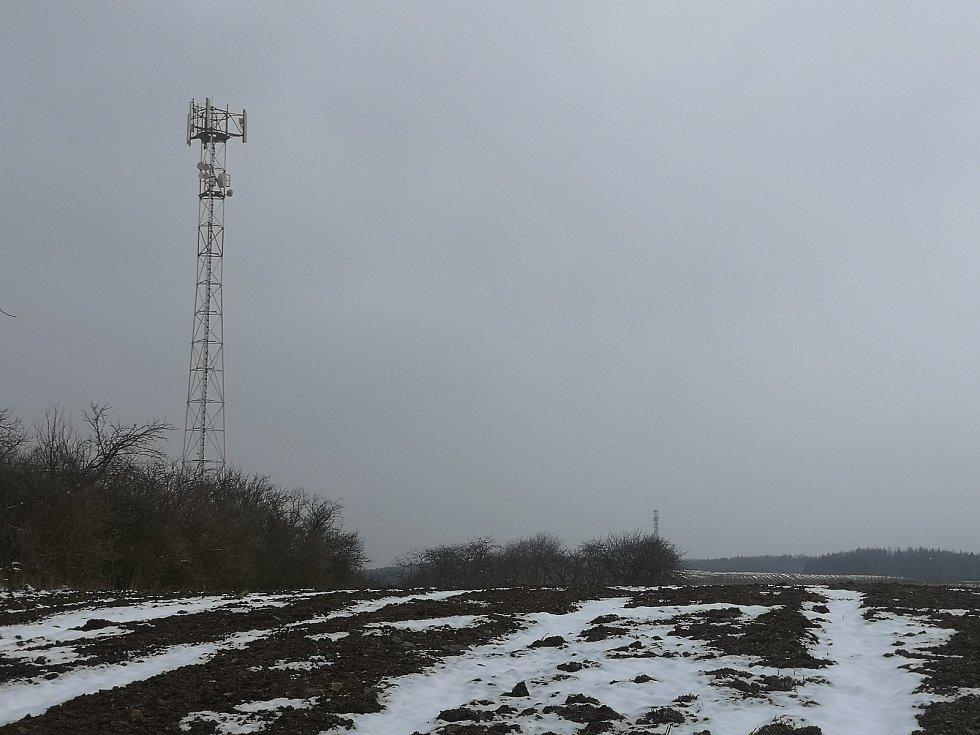 Stožár vysílače u Bumbálky.