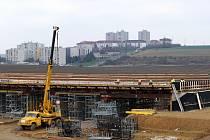 Momentky ze stavby chrudimského obchvatu ve dnech 25. a 26. listopadu.