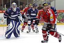 Z hokejového utkání I. hokejové ligy HC Chrudim - Benátky nad Jizerou 5:1.