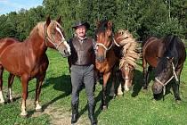 Neprávem odsouzený chovatel koní Jan Šafránek z Hlinska.