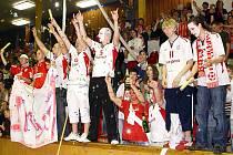 Fanoušci futsalistů Era-Packu Chrudim.