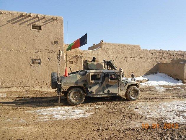 Příjezd Afghánské národní armády.