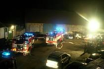 Požár kůlny v Topoli.