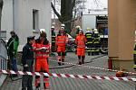 Požár domu s pečovatelskou službou v Tuněchodech.