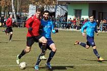 Z fotbalového utkání ČFL SK Převýšov - MFK Chrudim 1:0.