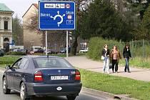 Park u Wiesnerovy vily v Chrudimi.
