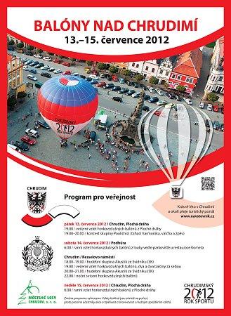 Pozvánka na akci Balony na Chrudimí.
