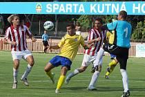 Z utkání Poháru České pošty Sparta Kutná Hora - MFK Chrudim 0:2.