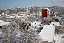 Ze zimní procházky zasněženou Chrudimí.