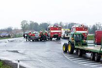 Na křižovatce u Medlešic došlo k vážné nehodě (na snímku) například i v dubnu loňského roku.