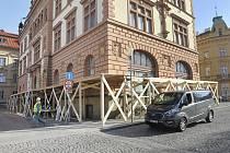 Fasádu muzejní budovy bude nutné opravit.