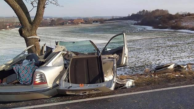 Tragická nehoda u obce Honbice