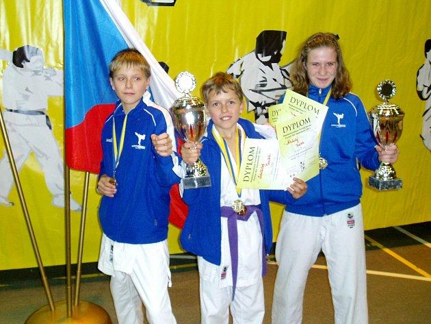 Hlinečtí karatisté na turnaji Puchar Gór Opawskich.