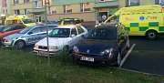 Z místa incidentu v Prachovicích.