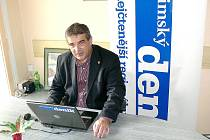 Předseda SPOZ Zdeněk Štengl při on-line rozhovoru v redakci Chrudimského deníku.