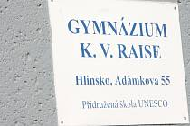 Gymnázium Karla Václava Raise v Hlinsku.